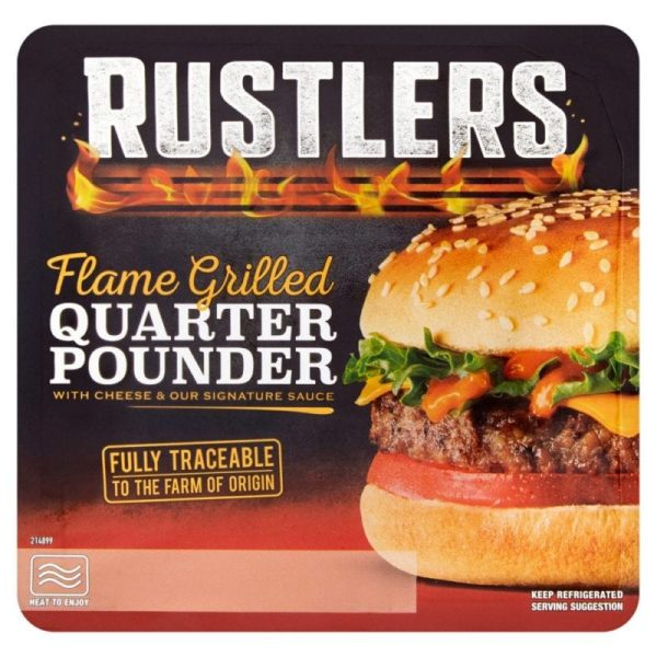 Rustlers Flame Grilled Quarter Pounder 190g